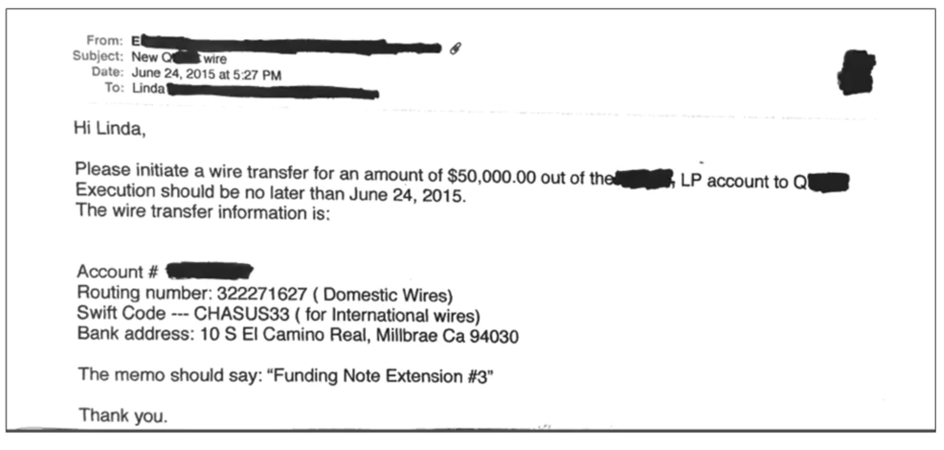 Fake Email of CEO