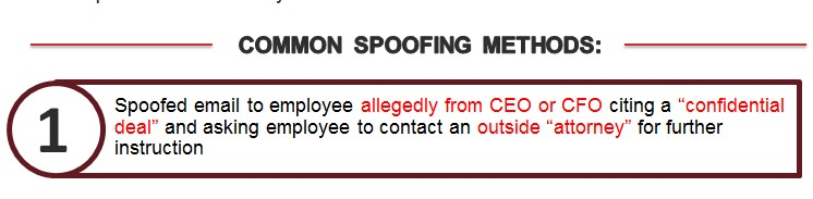 spoofed email to employee