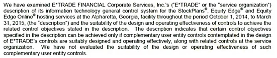 First paragraph is the introduction of auditor's report