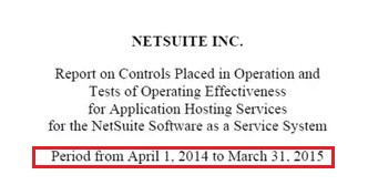 example of netsuite report