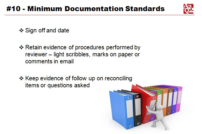 SOX 2016 Minimum Documentation Standards