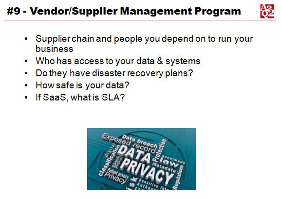 vendor and supplier management
