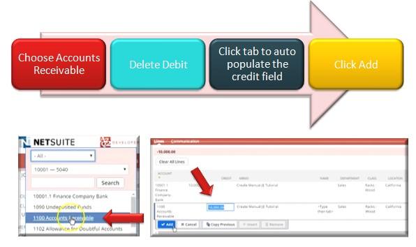 Auto populate the credit field