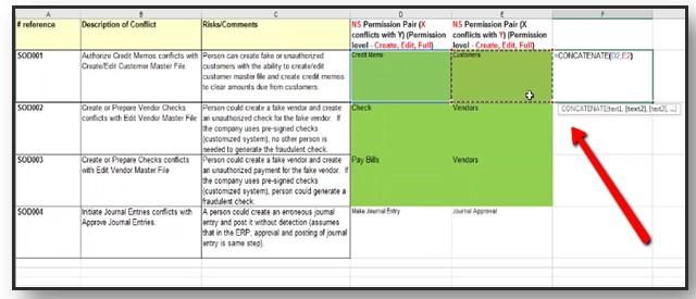 Concatenate SOD rule permissions